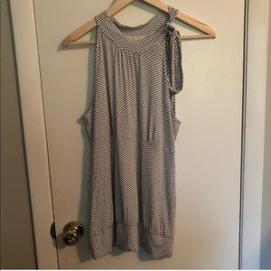 GUESS tie neck sleeveless top